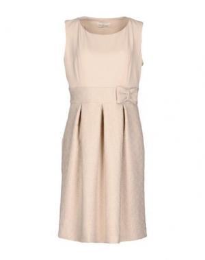 Короткое платье CORTE dei GONZAGA. Цвет: бежевый
