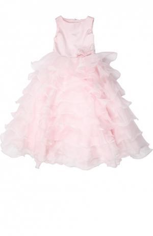 Платье с брошью Sarah Louise. Цвет: розовый