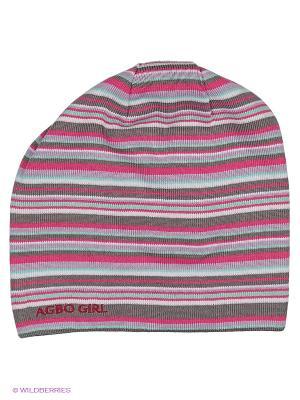 Шапка Agbo. Цвет: розовый, серый