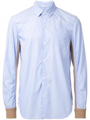 Рубашка в полоску Undercover. Цвет: синий