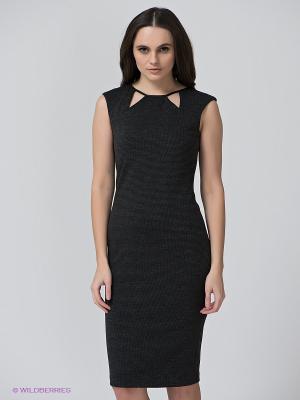 Платье BSB. Цвет: темно-серый, черный