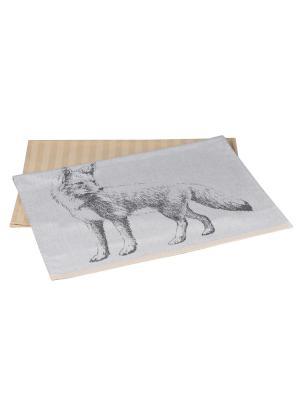 Кухонное полотенце в упаковке 50x70*2 FOX HOBBY HOME COLLECTION. Цвет: бежевый