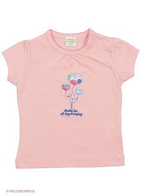Футболка Teidem. Цвет: бледно-розовый