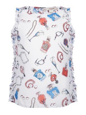 Блуза с топом, Beau, цвет белый (White Perfume) SUPERTRASH. Цвет: белый