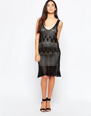 Goldie Трикотажное платье My Own Way. Цвет: черный