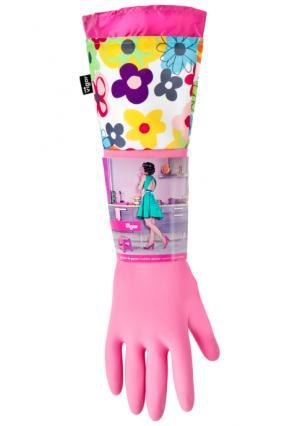 Перчатки для уборки WATERCOLOR VIGAR. Цвет: розовый (розовый/мульти)