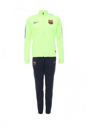 Костюм спортивный Nike. Цвет: зеленый, синий