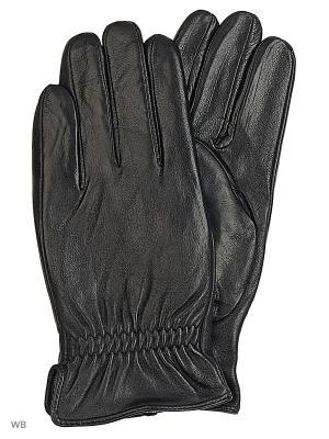 Перчатки мужские кожаные Cascatto. Цвет: черный