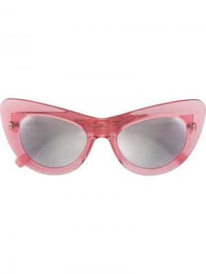 Солнцезащитные очки в оправе кошачий глаз Andy Wolf Eyewear. Цвет: розовый и фиолетовый