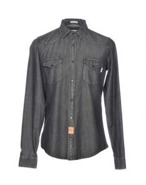 Джинсовая рубашка ROŸ ROGER'S. Цвет: стальной серый