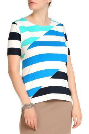 Блуза FIORA BLUE. Цвет: бирюзовый