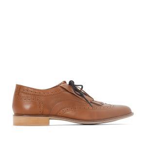 Ботинки-дерби из кожи с бахромой,размер 38-45 CASTALUNA. Цвет: темно-бежевый