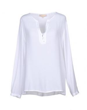 Блузка LA FEE MARABOUTEE. Цвет: белый