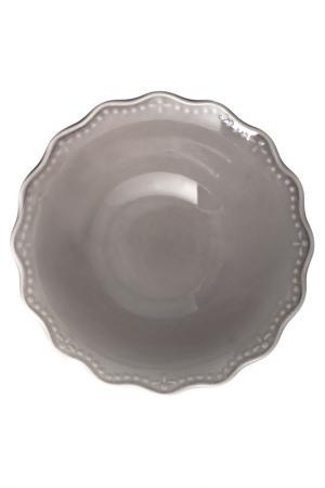 Салатник 25 см H&H. Цвет: серый