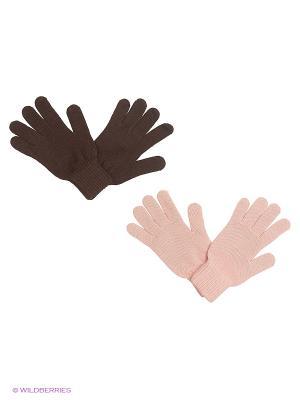 Перчатки FOMAS. Цвет: бледно-розовый, коричневый