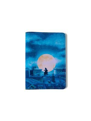 Обложка для паспорта На крыше TonyFox. Цвет: синий, голубой