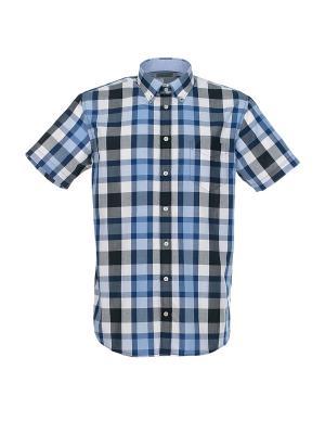 Рубашка Pre End. Цвет: синий