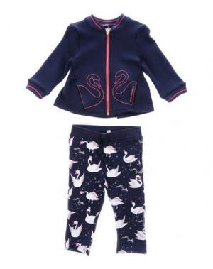 Спортивный костюм LITTLE MARC JACOBS. Цвет: темно-синий