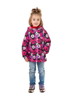 Куртка SAIMA. Цвет: черный,розовый