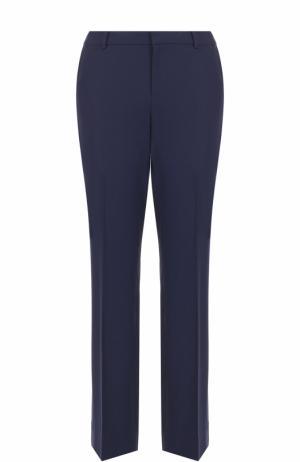 Укороченные брюки прямого кроя со стрелками Ralph Lauren. Цвет: темно-синий