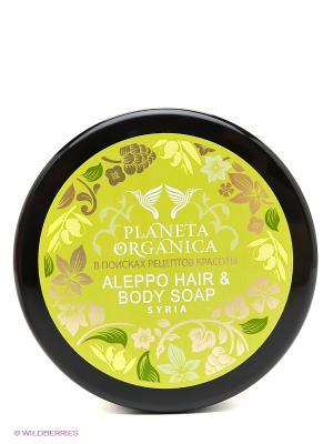 Мыло для волос и тела алеппское мыло300мл. PLANETA ORGANICA. Цвет: оливковый