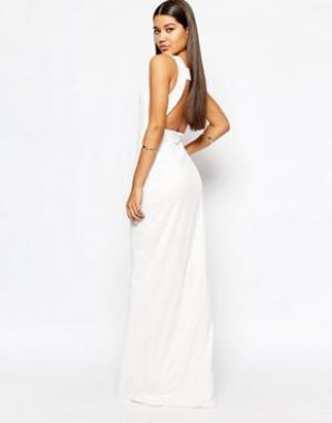 AQ Платье макси с квадратным вырезом сзади AQAQ Yenan. Цвет: кремовый