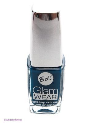 Устойчивый лак для ногтей с глянцевым эффектом Glam Wear, тон 513 Bell. Цвет: синий