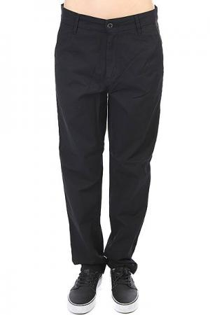 Штаны прямые женские  Vesper Pant Rinsed Black Carhartt WIP. Цвет: черный