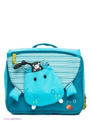 Рюкзак дошкольный Бегемотик Арнольд Lilliputiens. Цвет: морская волна, голубой