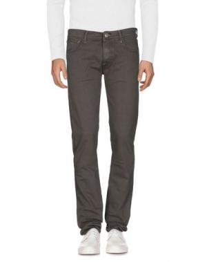 Джинсовые брюки HTC. Цвет: свинцово-серый
