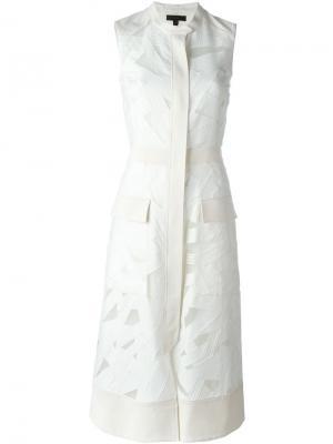 Платье Cynthia Belstaff. Цвет: белый