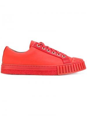 Кроссовки на шнуровке Adieu Paris. Цвет: красный