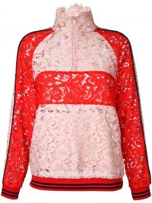 Куртка в стиле колор-блок Goen.J. Цвет: розовый и фиолетовый