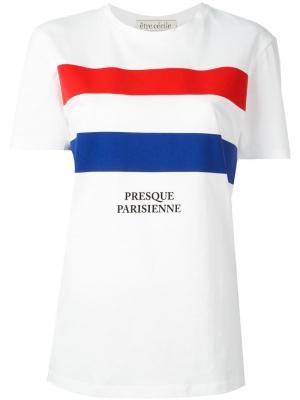 Футболка Presque Parisienne Être Cécile. Цвет: белый