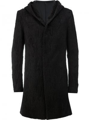Мешковатое пальто с капюшоном Masnada. Цвет: чёрный