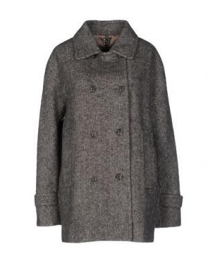 Пальто MABRUN. Цвет: серый