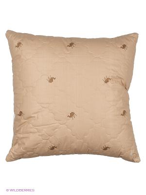 Подушка стеганая 70*70 Верблюд BegAl. Цвет: светло-коричневый