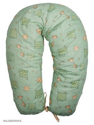 Подушка для беременных и кормящих ФЭСТ. Цвет: зеленый, бежевый
