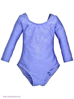 Гимнастический купальник Arina Ballerina. Цвет: сиреневый