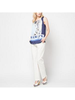 Блузка SELA. Цвет: голубой