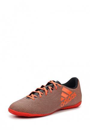 Бутсы зальные adidas Performance. Цвет: оранжевый