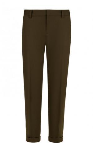 Укороченные однотонные брюки со стрелками Dsquared2. Цвет: хаки