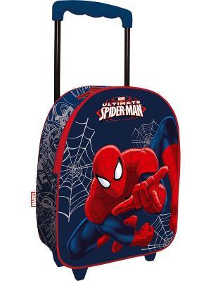 Чемодан на роликах Spider-Man. Цвет: синий, красный