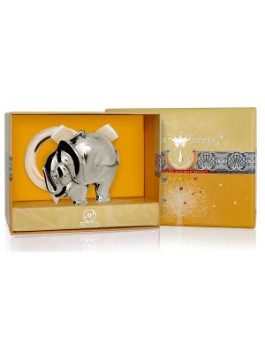 Погремушка Слон на кольце пр.925+футляр АргентА. Цвет: серебристый