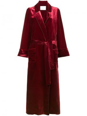 Бархатное пальто-халат Windsor Racil. Цвет: красный