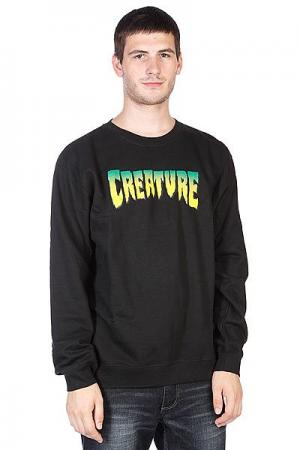 Толстовка  Logo Crew Black Creature. Цвет: черный