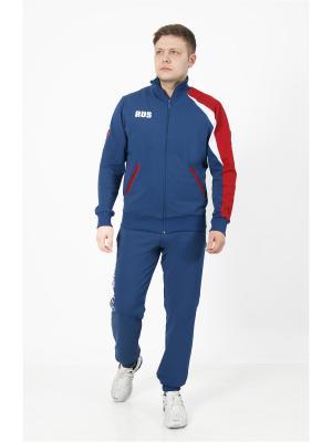 Спортивный костюм CROSS sport. Цвет: индиго