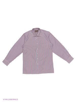 Рубашка Imperator. Цвет: красный, голубой