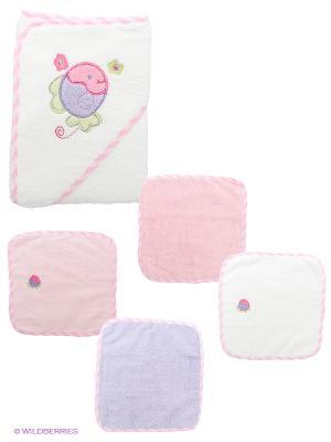 Комплект для новорожденных Spasilk. Цвет: сиреневый, белый, розовый