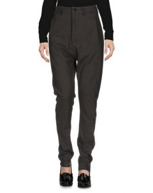 Повседневные брюки POÈME BOHÈMIEN. Цвет: свинцово-серый